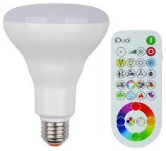idual br30 flood light e26 led smart lightbulb and remote control