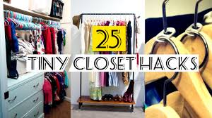 organzing 25 organizing small closet ideas youtube