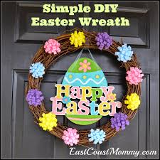 how to make easter wreaths east coast diy easter wreath