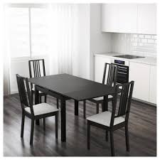 Black And White Dining Room by Bjursta Extendable Table Brown Black Ikea