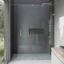Sliding Glass Shower Door Handles by Vigo Ryland 48 In X 71 5 In Semi Framed Sliding Shower Door With