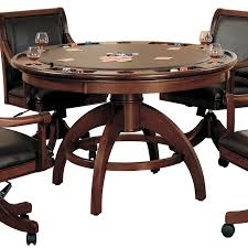 Poker Table Chairs With Casters by Bbo Poker Tables The Helmsley Poker Table With Dining Top Hayneedle