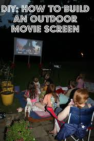 How To Make A Backyard Movie Theater Build A Backyard Movie Theater The Garden Glove