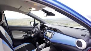 blue nissan micra nissan micra power blue interior youtube