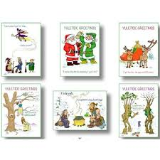 a selection of 6 yule greeting cards