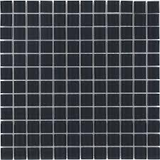 Dark Grey Tile Shop Elida Ceramica Dark Grey Uniform Squares Mosaic Glass Wall