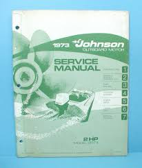 original 1973 johnson 2 hp outboard motor factory service manual