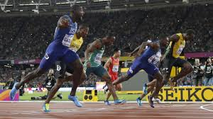 ft to meters justin gatlin takes 100m gold while usain bolt settles for bronze