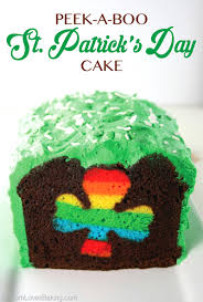 peek a boo st patrick u0027s day cake mom loves baking