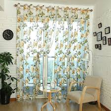 honana wx c2 flower transparent tulle curtains window screen decor