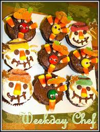 thanksgiving cupcake cake ideas weekday chef turkey cupcakes and scarecrow cupcakes for