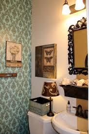 wallpaper accent bathroom wall ideas on a budget 3669 home