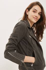 biker jacket suede biker jacket jackets u0026 coats clothing topshop usa