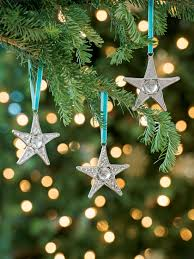 clear christmas ornaments clear glass star ornaments set of 3