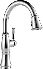 delta chrome kitchen faucets delta faucet 9197 dst cassidy single handle pull kitchen