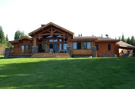 ranch style log home floor plans craftsman style timber frame homes wood river floor plan