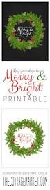 free christmas printable may your days be merry and bright