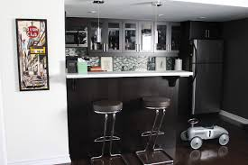 basement foxy man cave basement kitchen design ideas with black
