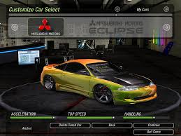 1995 mitsubishi eclipse jdm need for speed underground 2 cars by mitsubishi nfscars