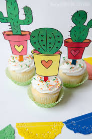 free printable halloween cupcake toppers cinco de mayo printables free cactus toppers