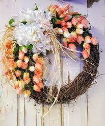 front door wreath home decor wreath summer wreath spring tulip