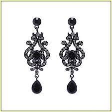 black chandelier earrings attracktive chandelier earrings for wedding black