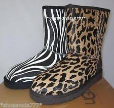 ugg zebra boots sale ugg australia print winter boots for ebay
