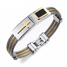 titanium steel bracelet images Cross shaped titanium steel men 39 s bracelet beautiful ties at jpg