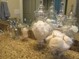 bathroom apothecary jar ideas pier 1 apothecary jars used for bathroom organization diyour