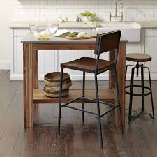 square small kitchen island table with wooden legs and bottom