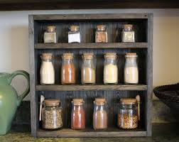 Wood Wall Mount Spice Rack Wooden Spice Rack Etsy