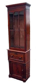 Narrow Mahogany Bookcase Antique Regency Narrow Mahogany Bookcase 87364 Sellingantiques