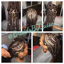 pronto braids hairstyles feed ins w jumbo box braids for the homie braids by quise