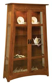 amish furniture curio cabinets and display cases from dutchcrafters