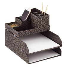 Desk Organizer Tray by Bigso Hexagold Stockholm Desktop Organizer The Container Store