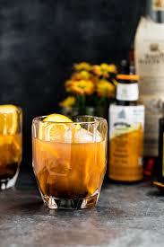 cozy bourbon old fashioneds sweet potato syrup plays well