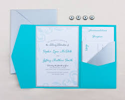 pocket folds framing swirl invitation