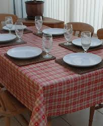 Dining Room Linens by Decor U0026 Tips Vinyl Tablecloths And Tablescape With Table