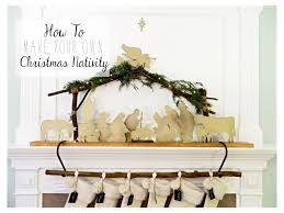 diy tutorial for making a silhouette christmas nativity scene