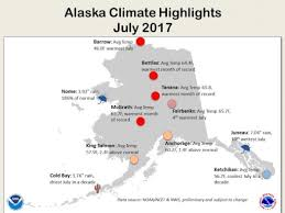 Alaska Cities Map by July Was Record For Parts Of Alaska And The West Climate Central