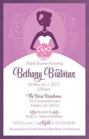 bridal invitations bridal shower invitations purple kawaiitheo