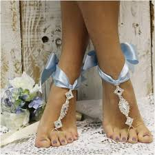 wedding barefoot sandals cosmopolitan ribbon barefoot sandals something blue ribbon