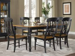 Cherry Dining Table Set Destroybmxcom - Black dining table with wood top