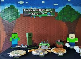 minecraft backdrop 284 best festa minecraft images on birthday party