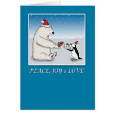 polar penguin cards greeting photo cards zazzle