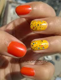 bright yellow nail art insane dissections