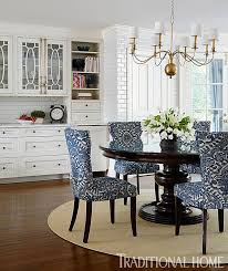 Fabric Dining Room Chairs Blue And White Dining Room Chairs Design Ideas Intended For New
