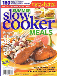 buy taste of home magazine summer slow cooker meals 2012 single
