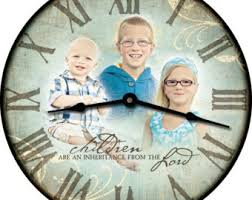 Personalized Picture Clocks Custom Made Clocks Etsy