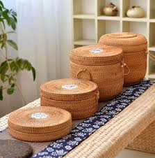 aliexpress com buy handmade rattan woven pu erh tea cake storage